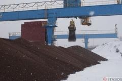 Sektor Energetyczny - rozładunek pelletu zmasłosza zimą